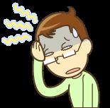 頭痛で苦しむ男性のイラスト